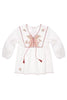 Foundling Tainted Love Embroidered Blouse Ecru