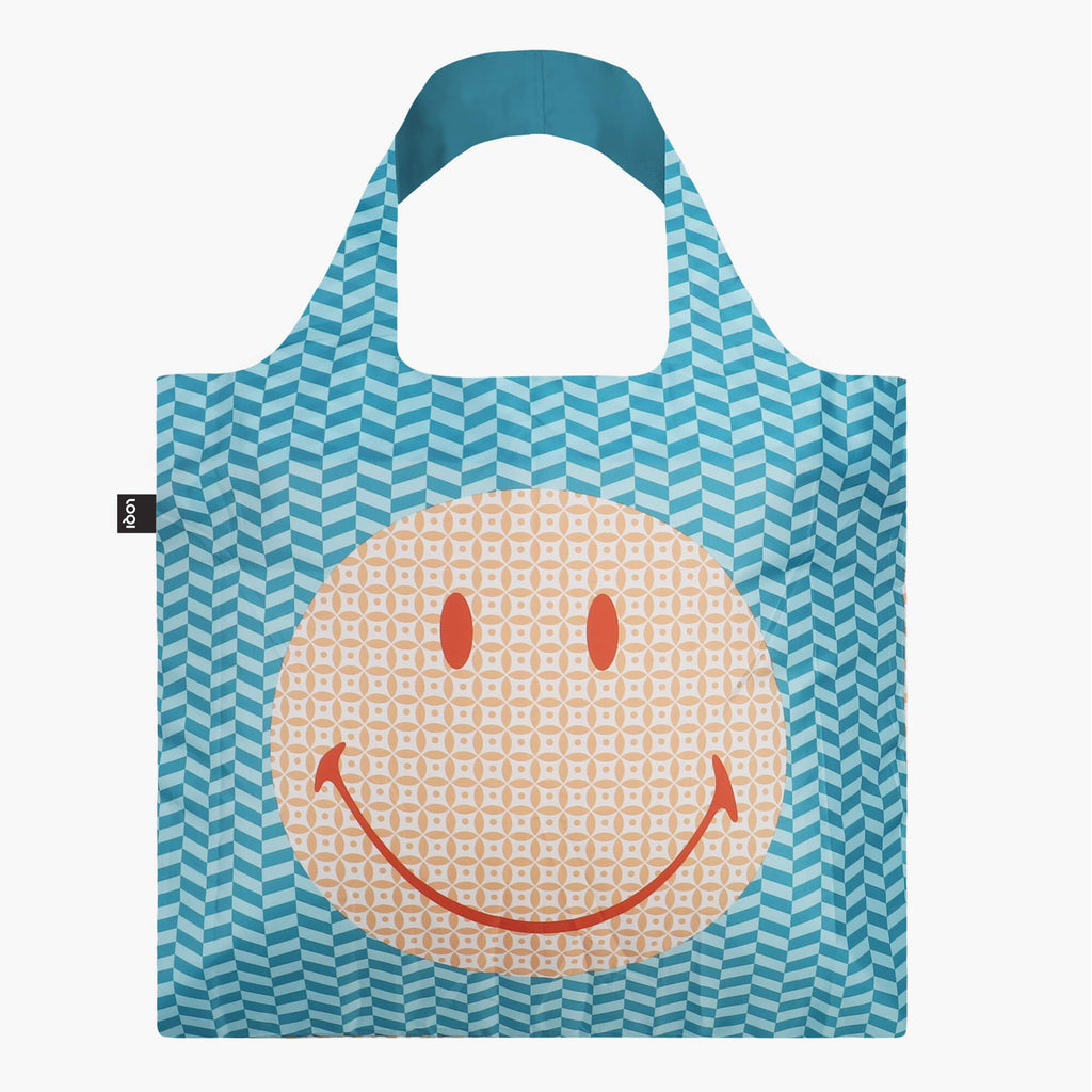 LOQI Smiley Geometric Recycled Bag