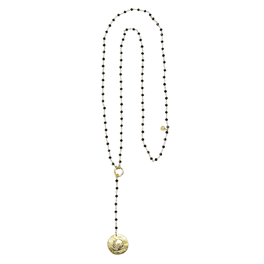 A Beautiful Story Rosary Black Long Necklace