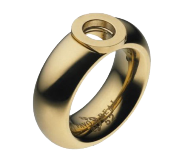 Pavo Real Ring Cadiz Gold Curved Polished