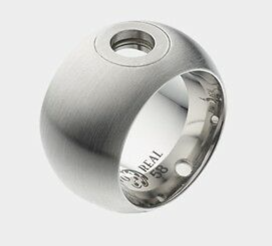 Pavo Real Ring Alicante 15mm Silver Curved Matt