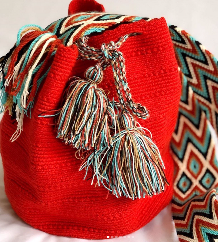 Casa Bonita Wayuu Mochilas Crossbody Bag Red