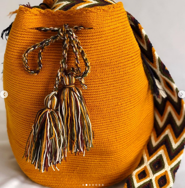 Casa Bonita Wayuu Mochilas Crossbody Bag Honey