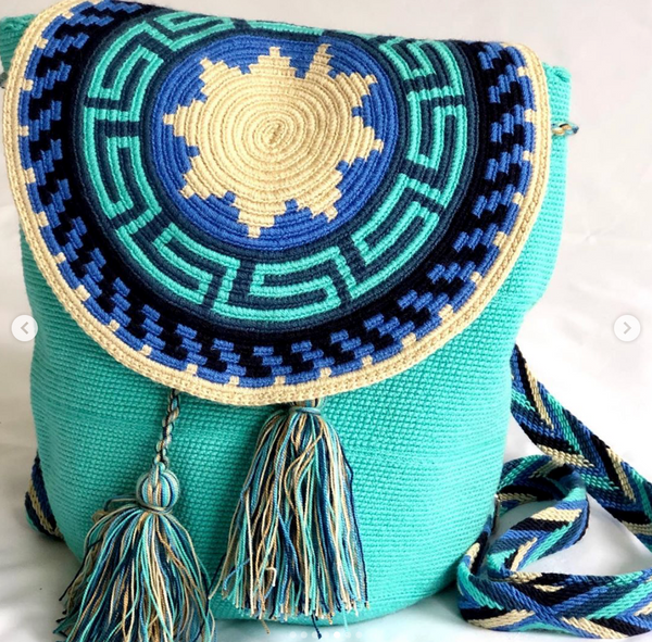 Casa Bonita Wayuu Crochet Backpack Maya