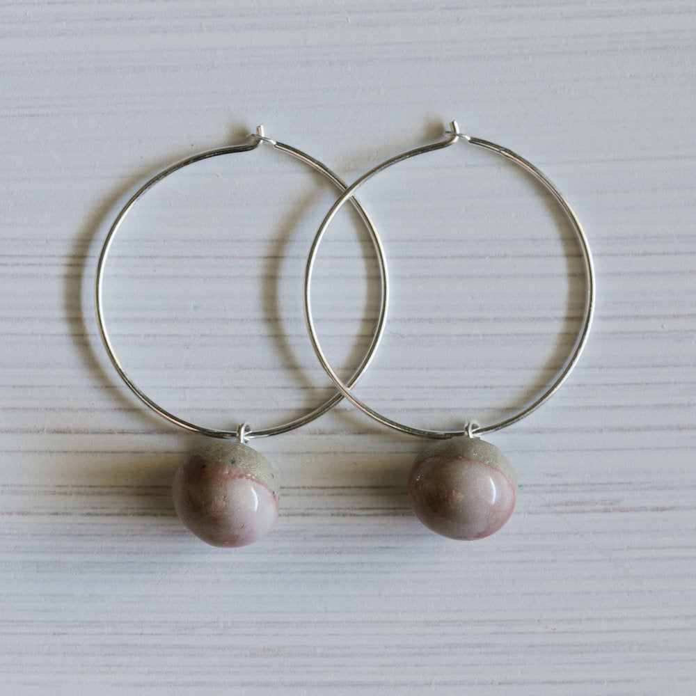 Woodfolk Rose Hoop Earrings