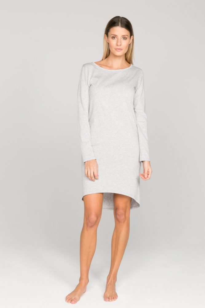 Annukka Long Sleeve Organic Grey Dress