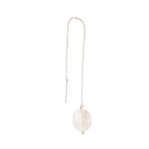 ABS Elegant Rose Quartz Sterling Silver Earring