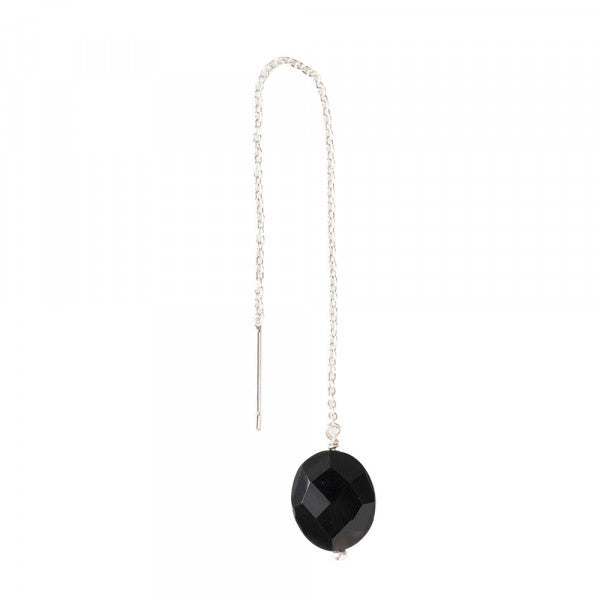 ABS Elegant Black Onyx Sterling Silver Earring