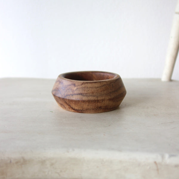 Wood Bevel Bangle