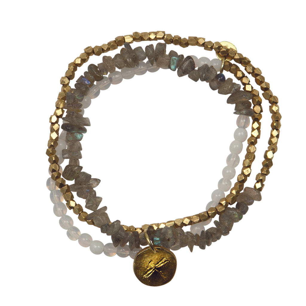 A Beautiful Story - Flair Labradorite Gold Bracelet