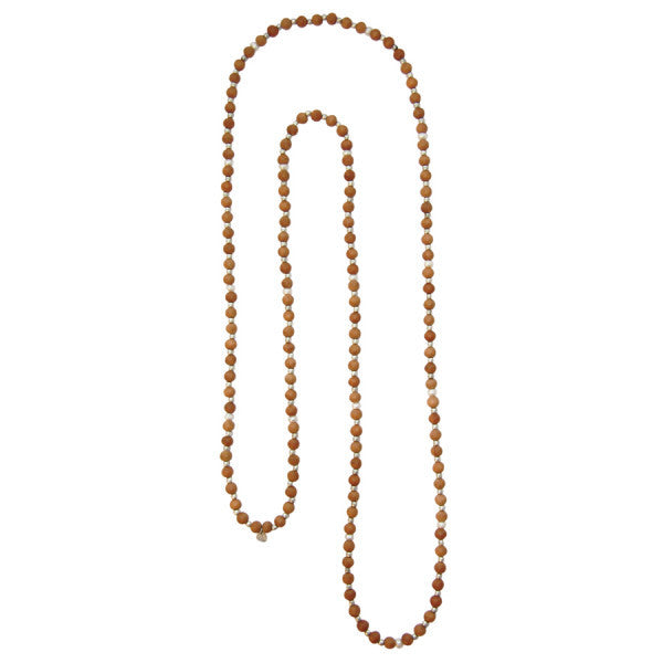 Mala Pearl Sandal Wood Necklace
