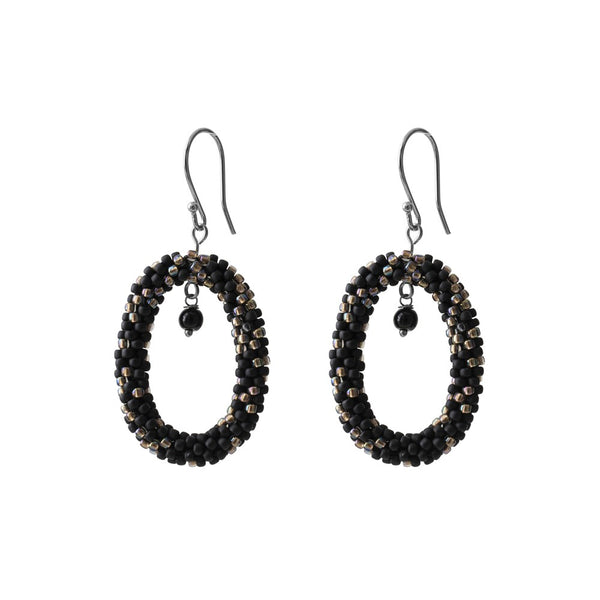 ABS Faith Black Onyx Silver Earrings