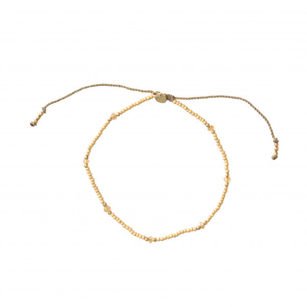 ABS Rainbow Citrine Gold Anklet