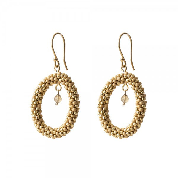 ABS Faith Citrine Gold Earrings