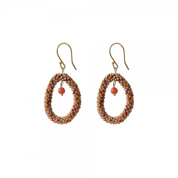 ABS Faith Carnelian Gold Earrings