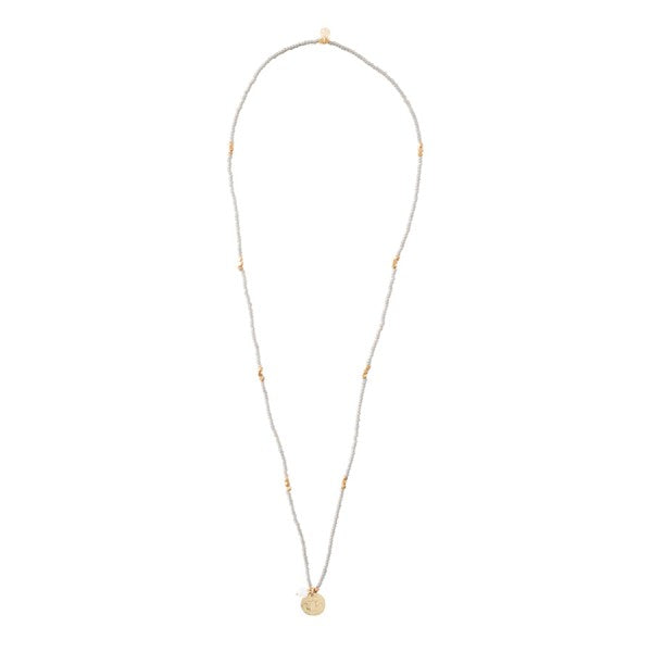 ABS Truly Moonstone Lotus Gold Necklace