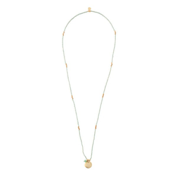 ABS Truly Aventurine Flower of Life Gold Necklace