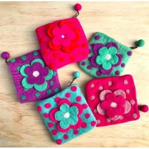 Himalayan Journey Flower Purse
