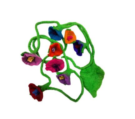 Himalayan Journey Jungle Flower hanging multicolor Garland