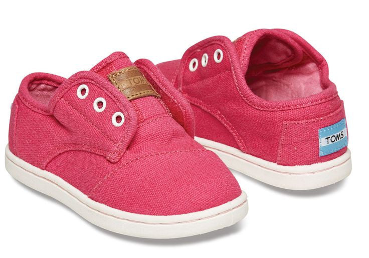 Toms Fuschia Canvas Tiny Paseos