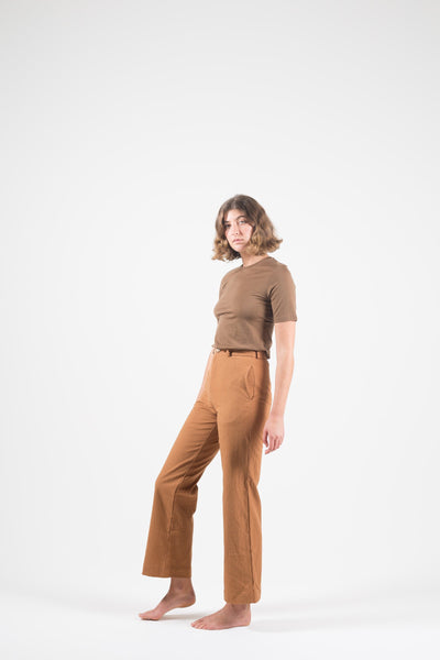 Vege Threads Hemp Toffee Gaucho Pant