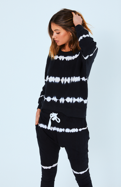 Cartel & Willow Horizon Sweater Black Tie Dye