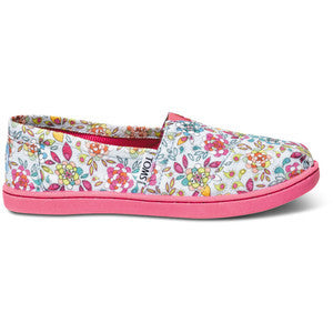 Toms Inked Floral Youth Alpargata