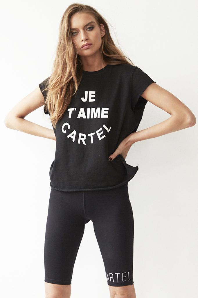 Cartel & Willow JE T'AIME Sweat Black