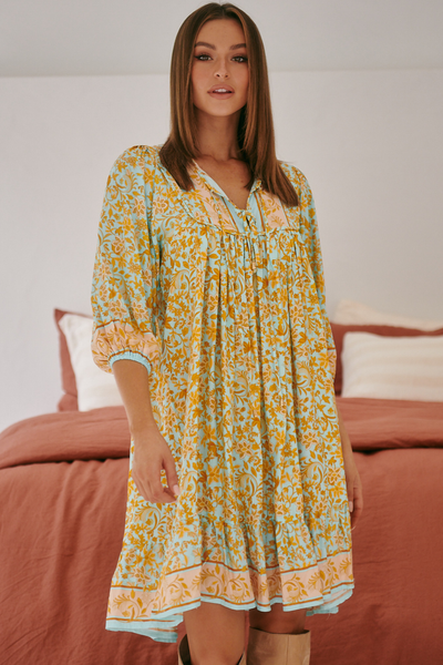 Jaase French Leilani Print Dress