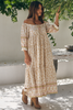 Jaase Blossom Lily of The Valley Maxi Dress