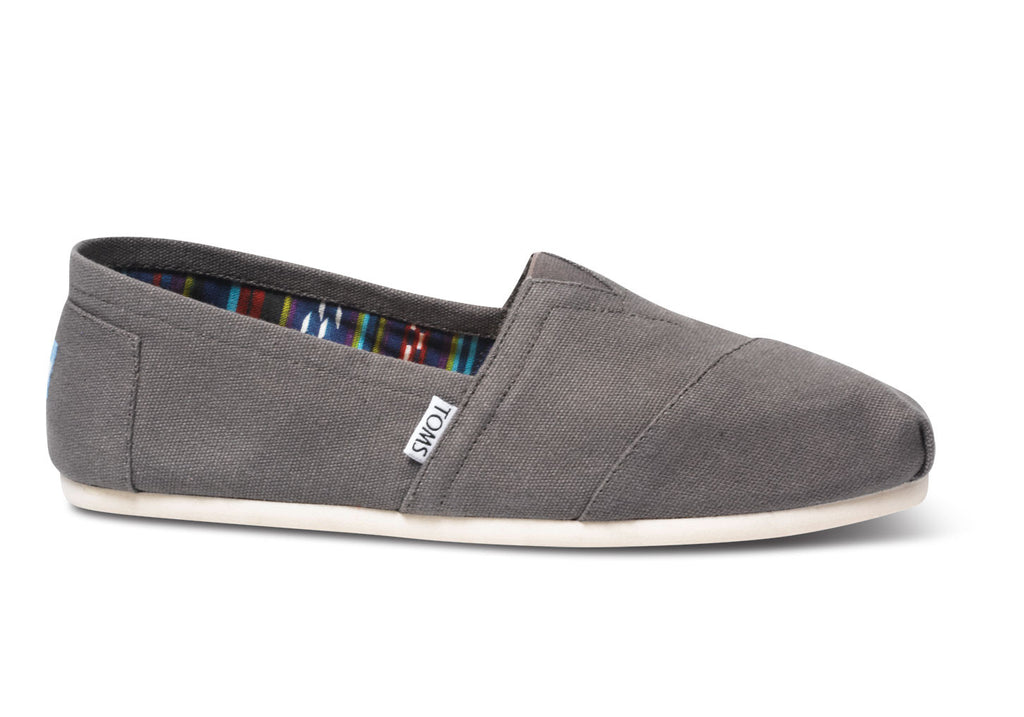 Toms Ash/Grey Classic Mens Canvas