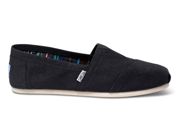 Toms Black Classic Mens Canvas