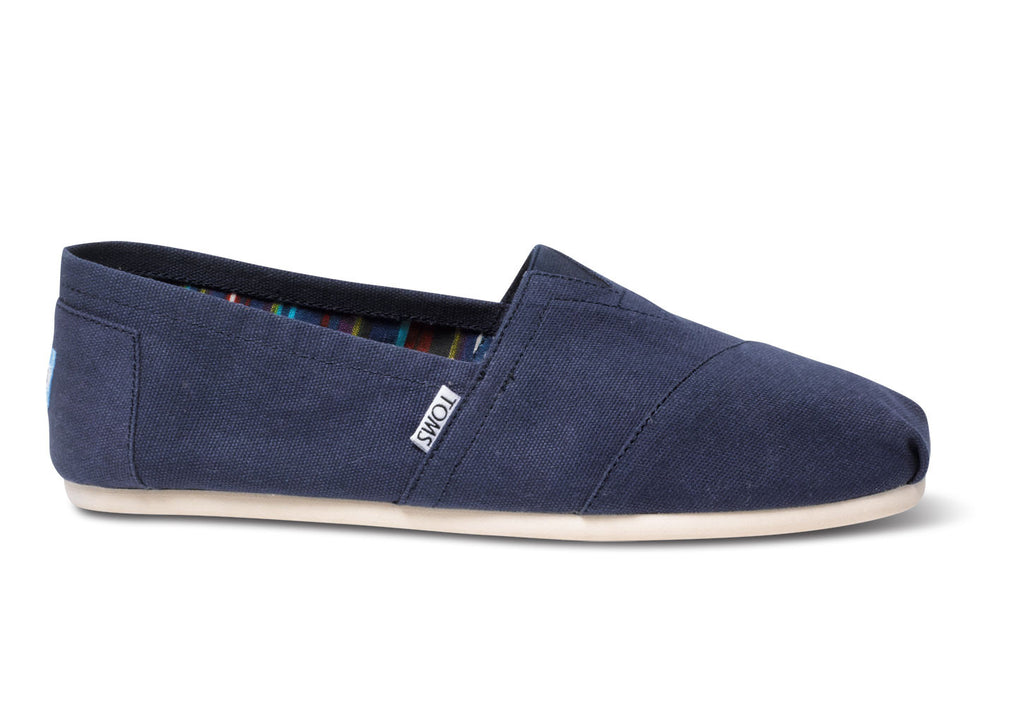 Toms Navy Mens Classic Canvas