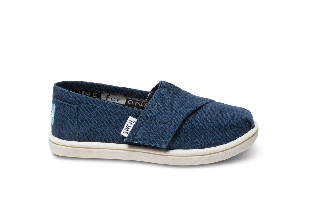 TOMS Navy Canvas Tiny Classic