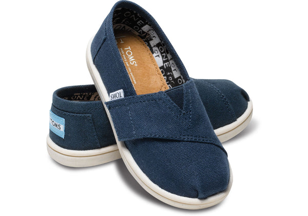 Toms Navy Canvas Tiny Alpargata***