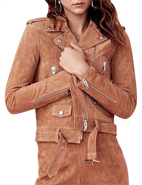 Ena Pelly New Yorker Jacket Tan Suede