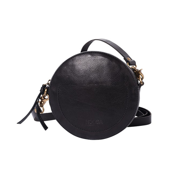 NOOSA Amsterdam Ltd Edition Circle Shoulder Black Bag