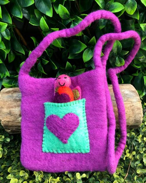 Himalayan Journey Purple Love Puppet Bag