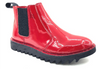 Ripple Sole Womens Patent Leather Red Ducatti Boots
