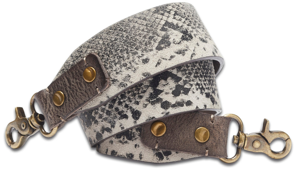 NOOSA Roots Leather Snake Print Strap