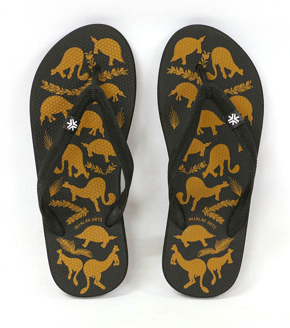 Injalak Arts Stone Country Animals Art Thongs
