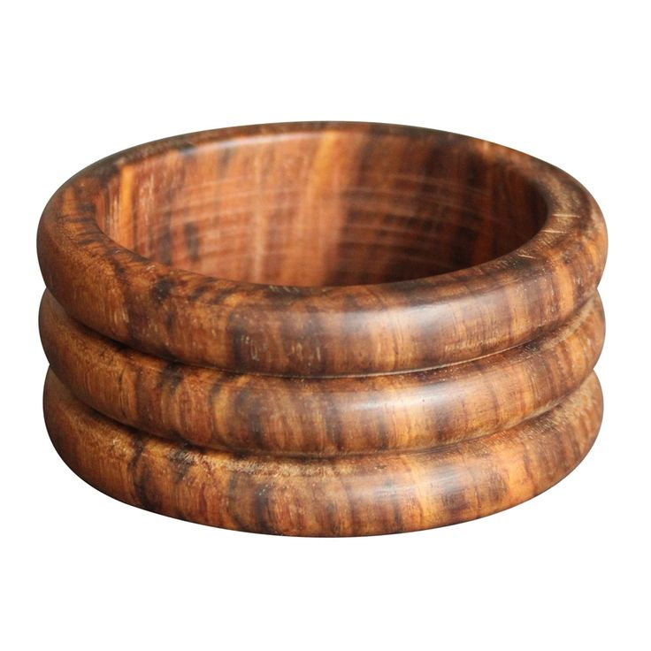 Natural Wood Three Step Bangle