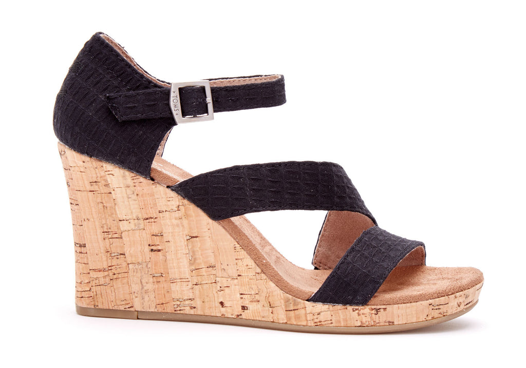 Toms Black Clarissa Wedge