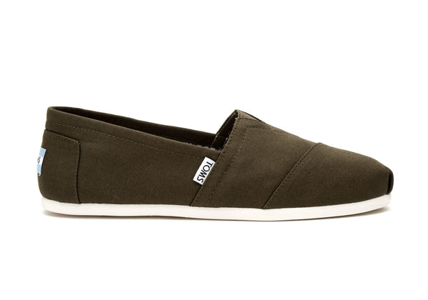 Toms Military Olive Canvas Mens Classics