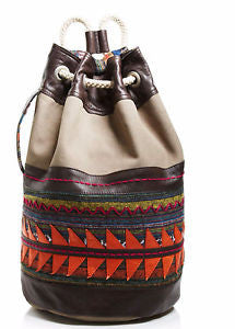 TOMS Olive Multi Embl Tribal Drawstring