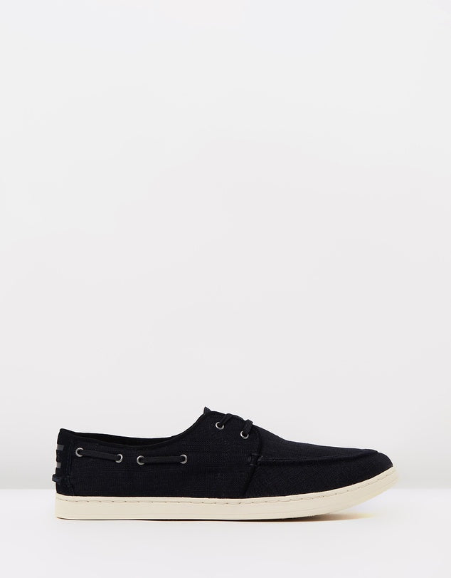 Toms Black Wash Linen Mens Culvers