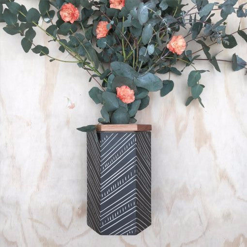 Koa Hexagon Vase