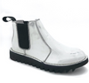 Ripple Sole Womens Patent Leather White Ducatti Boots