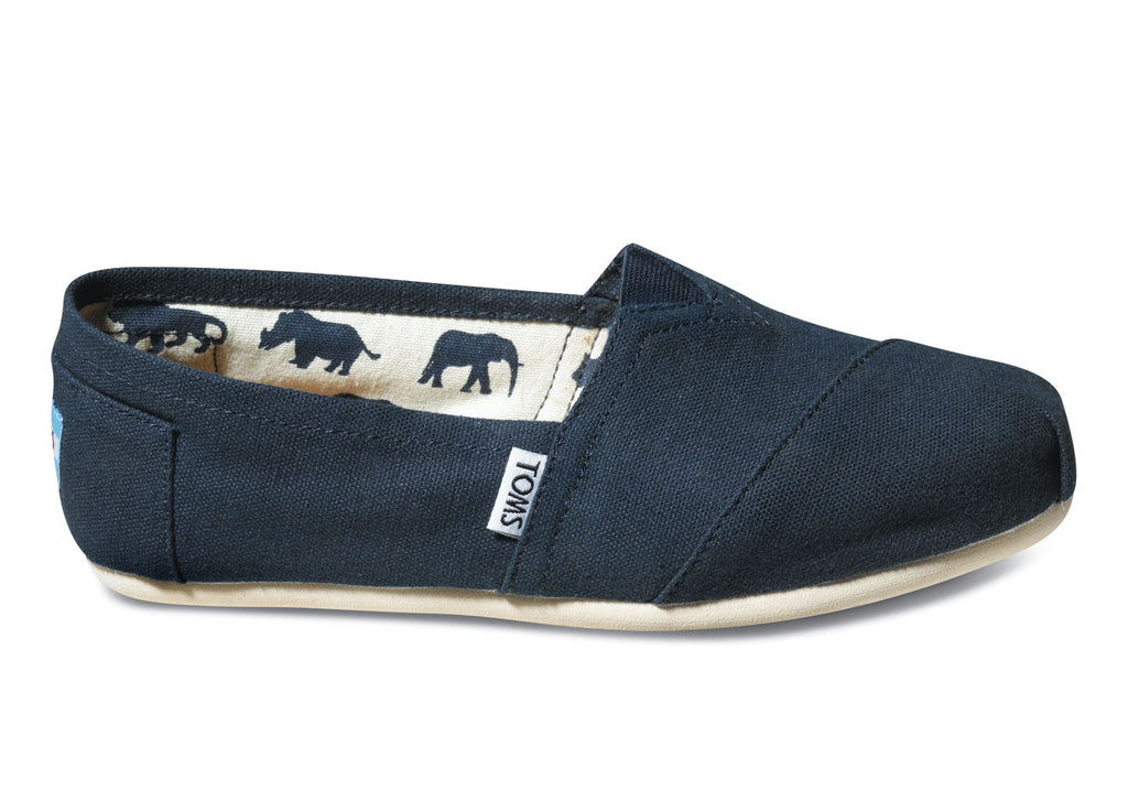 Toms Navy Womens Classic Canvas