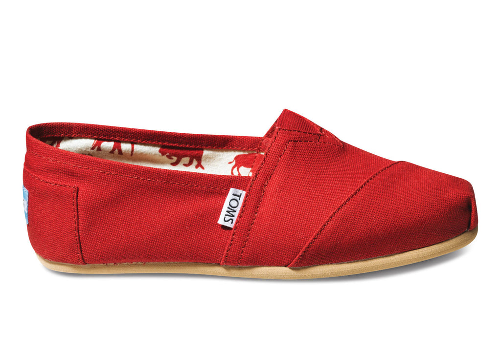 Toms Red Womens Classic Canvas